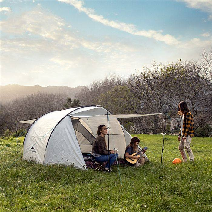 NATUREHIKE OUTDOOR WATERPROOF ONE ROOM ONE HALL FAMILY FOR 3 PERSON CAMPING TENT