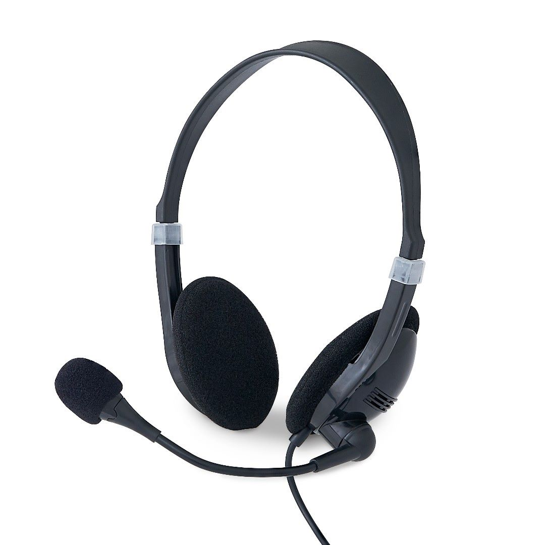 Take every call in comfort with Verbatim Stereo and Mono Headsets. These headsets deliver clear, consistent sound quality in easy-to-use stereo and mono formats, with a rotatable microphone and an in-line remote control.