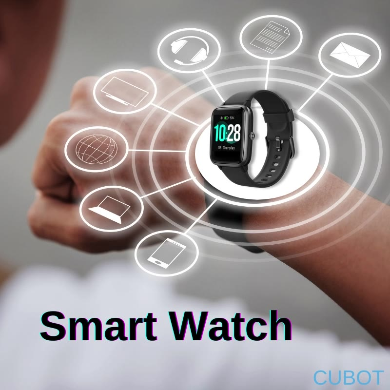 Be money smart with incredible and affordable Cubot Smartwatch! Some of its great features include: ⌚ 24 hour real time heart rate monitoring