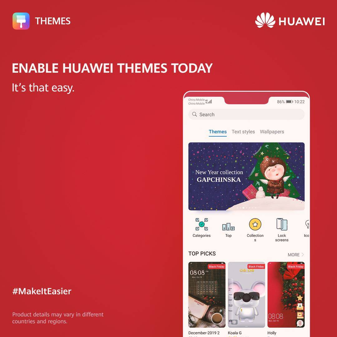 Open Themes > Pick something you like > Download & Apply! It's that easy.✅ Enable #HUAWEIThemes today to give your phone a new look whenever you want! 🤩Every day can be a costume party for your Huawei device.