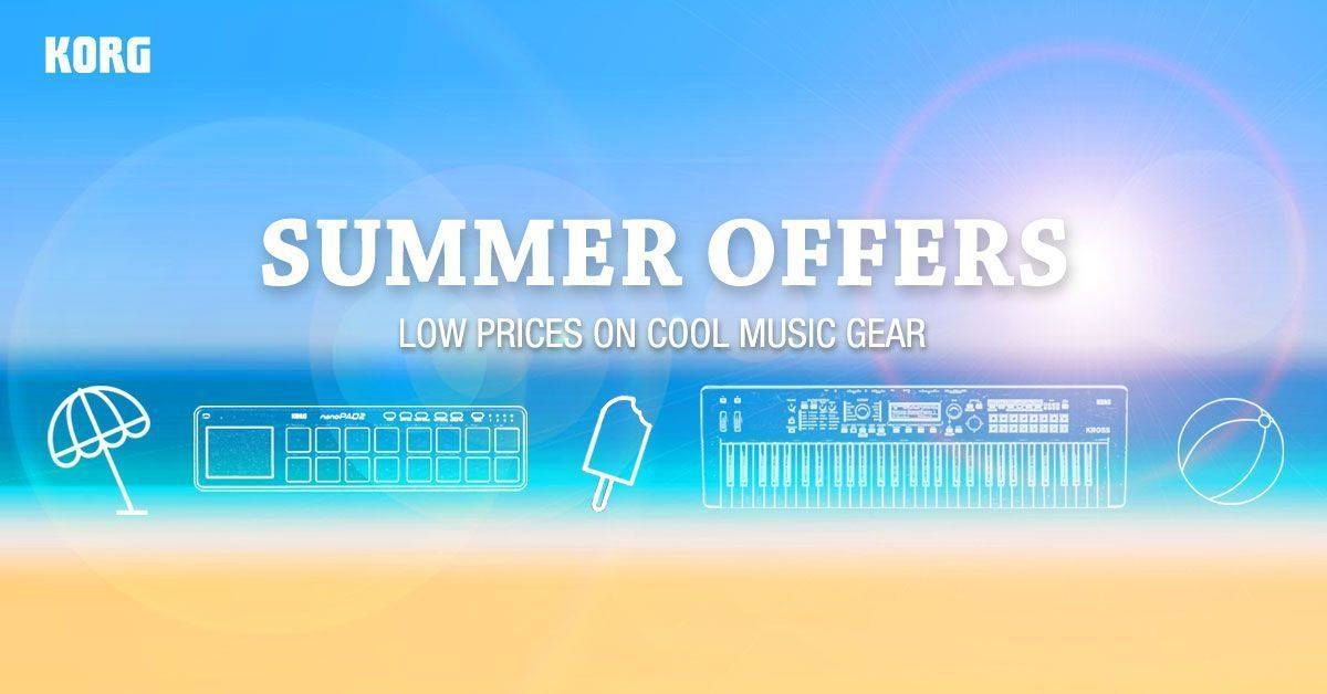 Summer may be coming to an end but, here at KORG, things are really hotting up as we launch our online store Bank Holiday sale! Whether you're planning on getting out and performing live or hunkering down for some serious musical creativity, there's never been a better time to buy direct from KORG.