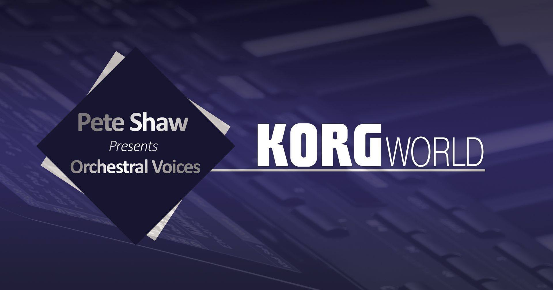 Join Pete Shaw LIVE on Thursday February 27th at 5pm as he takes you through a masterclass on the KORG Pa Series.