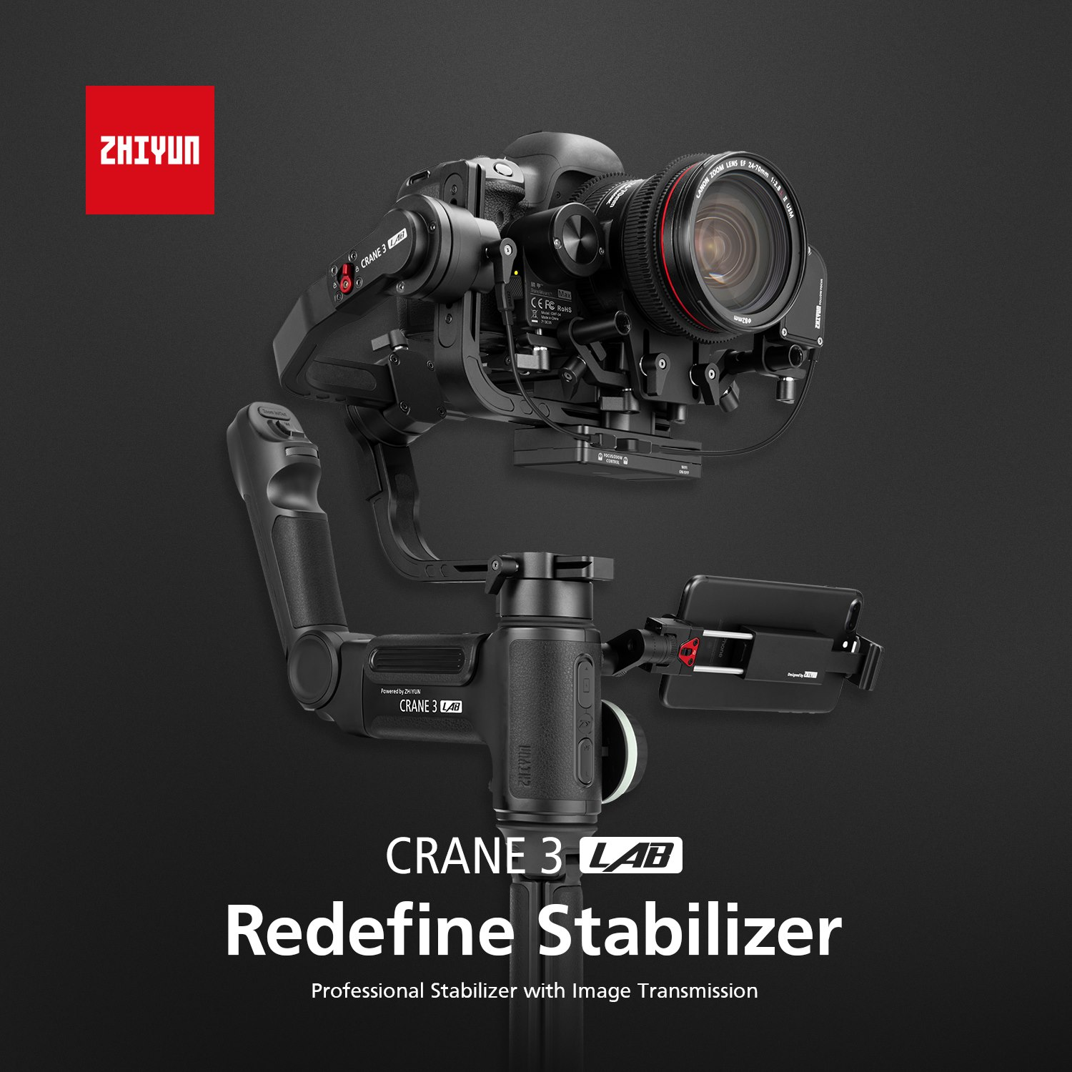 Here is the weights of Zhiyun Crane 3 LAB