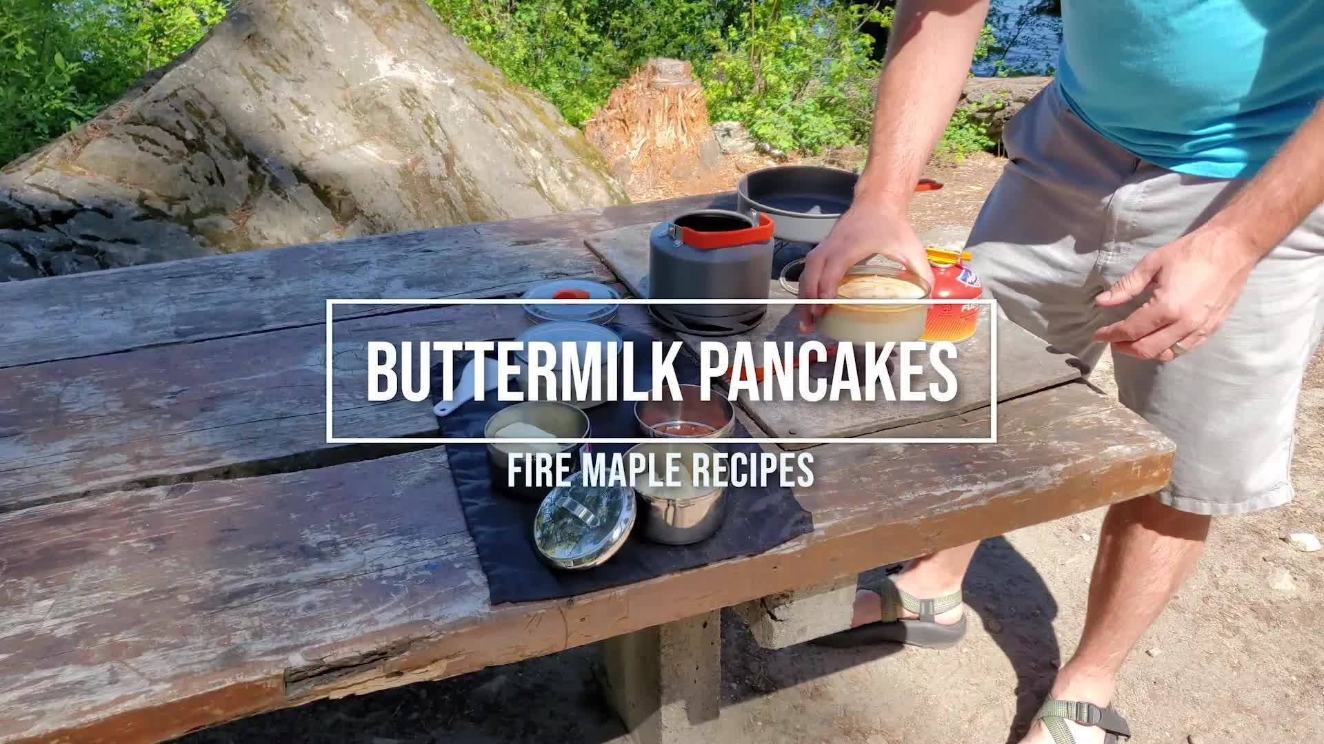 Easy Camping Recipe from Fire Maple | Buttermilk Pancakes 🥞