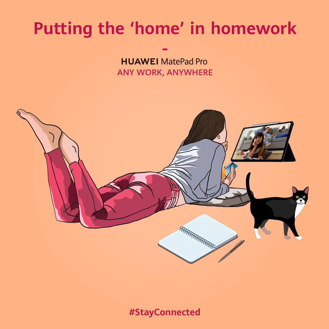 Putting the 'home' in homework.