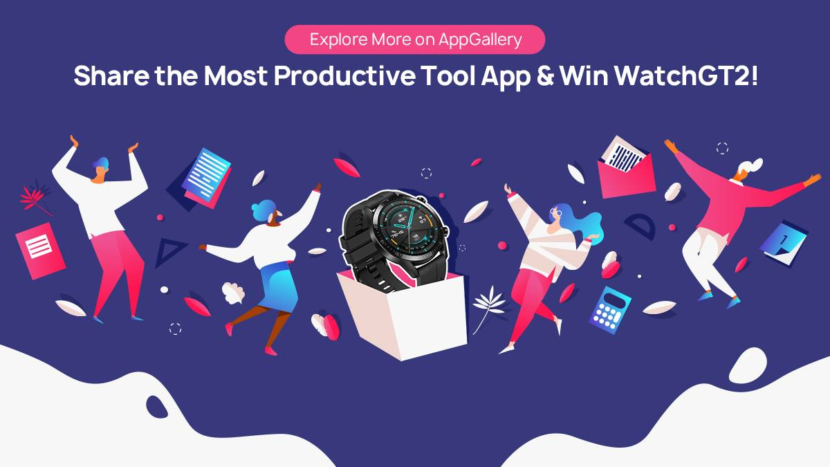 Is your life surrounded by tool apps? We've got a #HuaweiWatchGT2 and Band 4 Pro to give away to two lucky AppGallery users! 🎁 All you need to do is share with us your favourite productive tool app on #AppGallery for your chance to win!